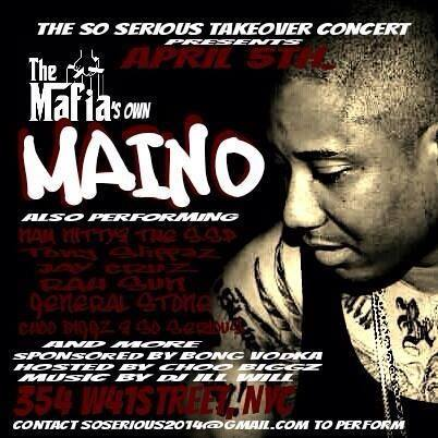 MAINO @ Tabacco Road NYC – SoSerious Corp Showcase